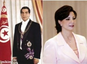 President Zine El Abidene Ben Ali (74) and his wife Leila Ben Ali