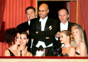 Saaif al-Islam Gaddafi in the Opera Ball booth of scandalous Austrian Entrepreneur Richard Lugner