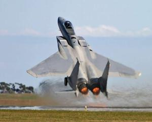 F-15 Eagle Short Takeoff In Afterburner