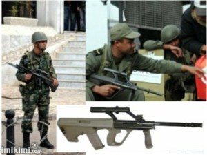 Tunisia Regular Army mit AUG (Austrian Asault Rifle STg 77)